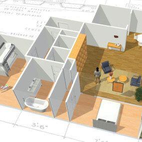 Service De Plan De Maison 3d Gratuit Et En Ligne Homebyme Plan Maison 3d Maison 3d Decoration Maison