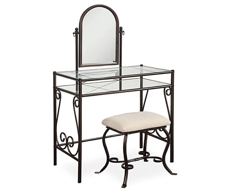 I found a Heather Metal Angle Mirror Vanity Set with Stool at Big