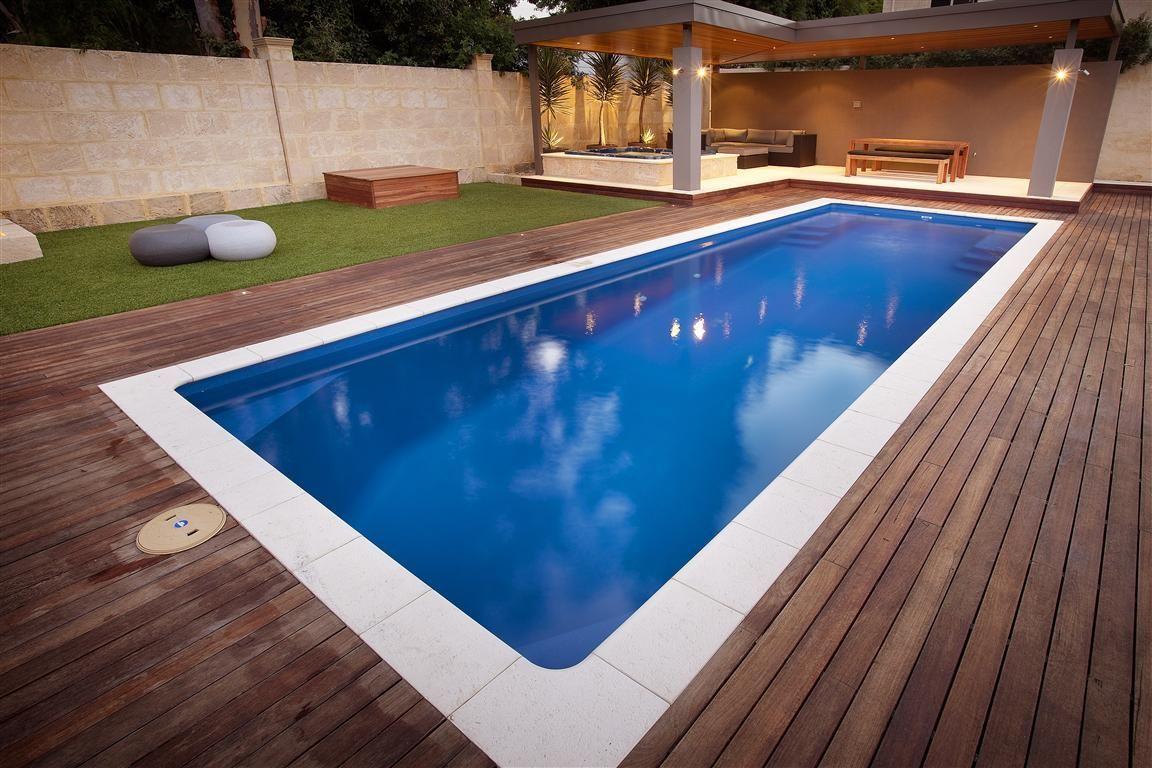 Milan Fibreglass Pool Aqua Technics Poollandscapingideas Fiberglass Swimming Pools Swimming Pools Backyard Pool Designs