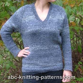 Free Top Down V Neck Raglan Sweater Pattern Knitting Inspirations
