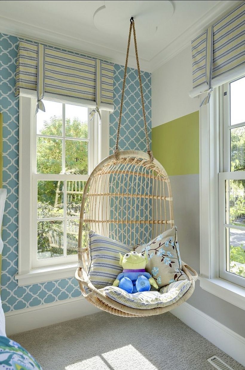 Room Decorations For Teenage Girls: 150+ Lovely Relaxable Indoor Swing Chair Design Ideas