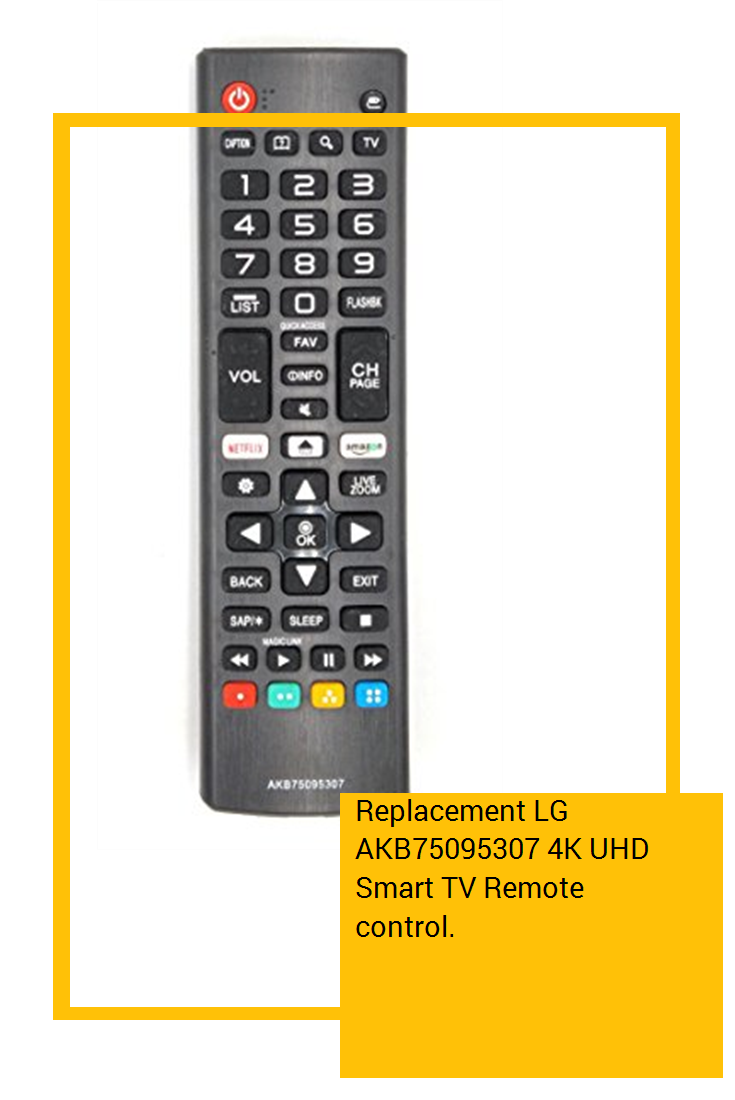 Replacement LG AKB75095307 4K UHD Smart TV Remote control