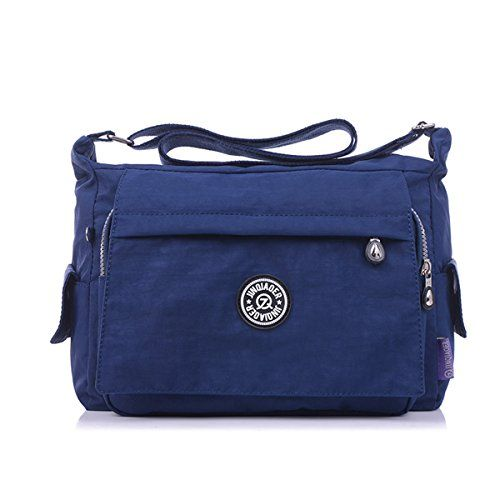 ec553932a7 TianHengYi Womens Multiple Zipper Pockets Nylon Fabric Crossbody Shoulder  Bag Light Sports Messenger Bag Navy     Be sure to check out this awesome  product.
