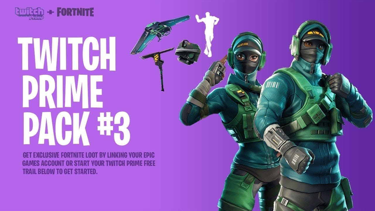 Twitch Prime Skin Fortnite 2019 New Free Skins In Fortnite Twitch Prime Pack 3 Youtube Di 2020