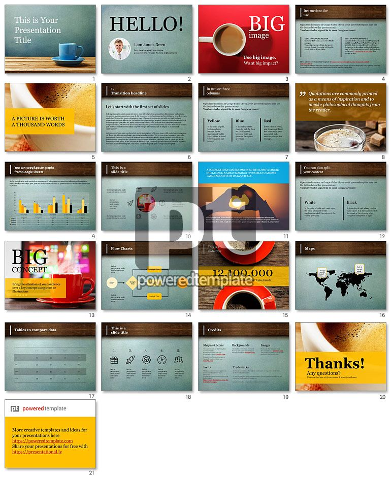 Cup of Coffee Free Presentation Template FREE Professional Google