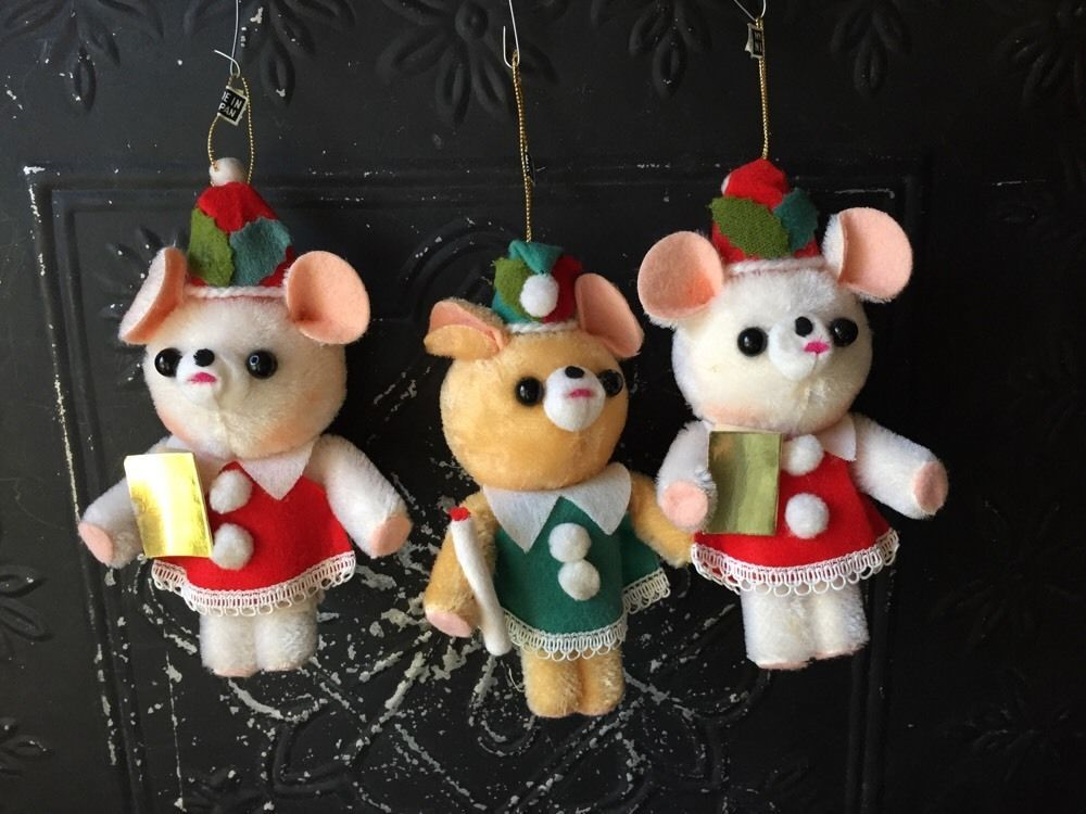 Vintage Lot Of 3 Teddy Bear Christmas Ornaments Made In Japan Christmas Ornaments How To Make Ornaments Teddy Bear Ornament