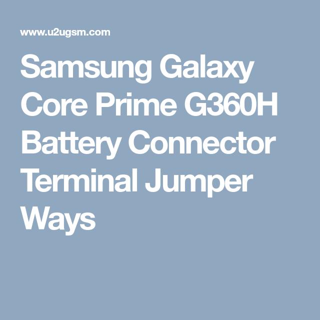 Samsung Galaxy Core Prime G360h Battery Connector Terminal