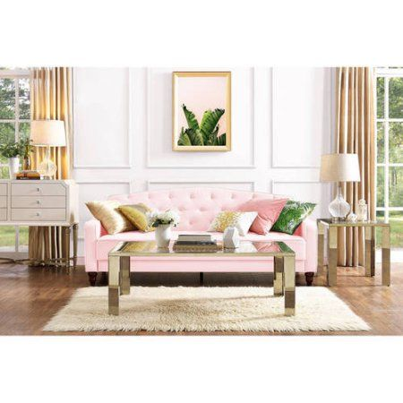 Home Tufted Sofa Sleeper Sofa Pink Sofa