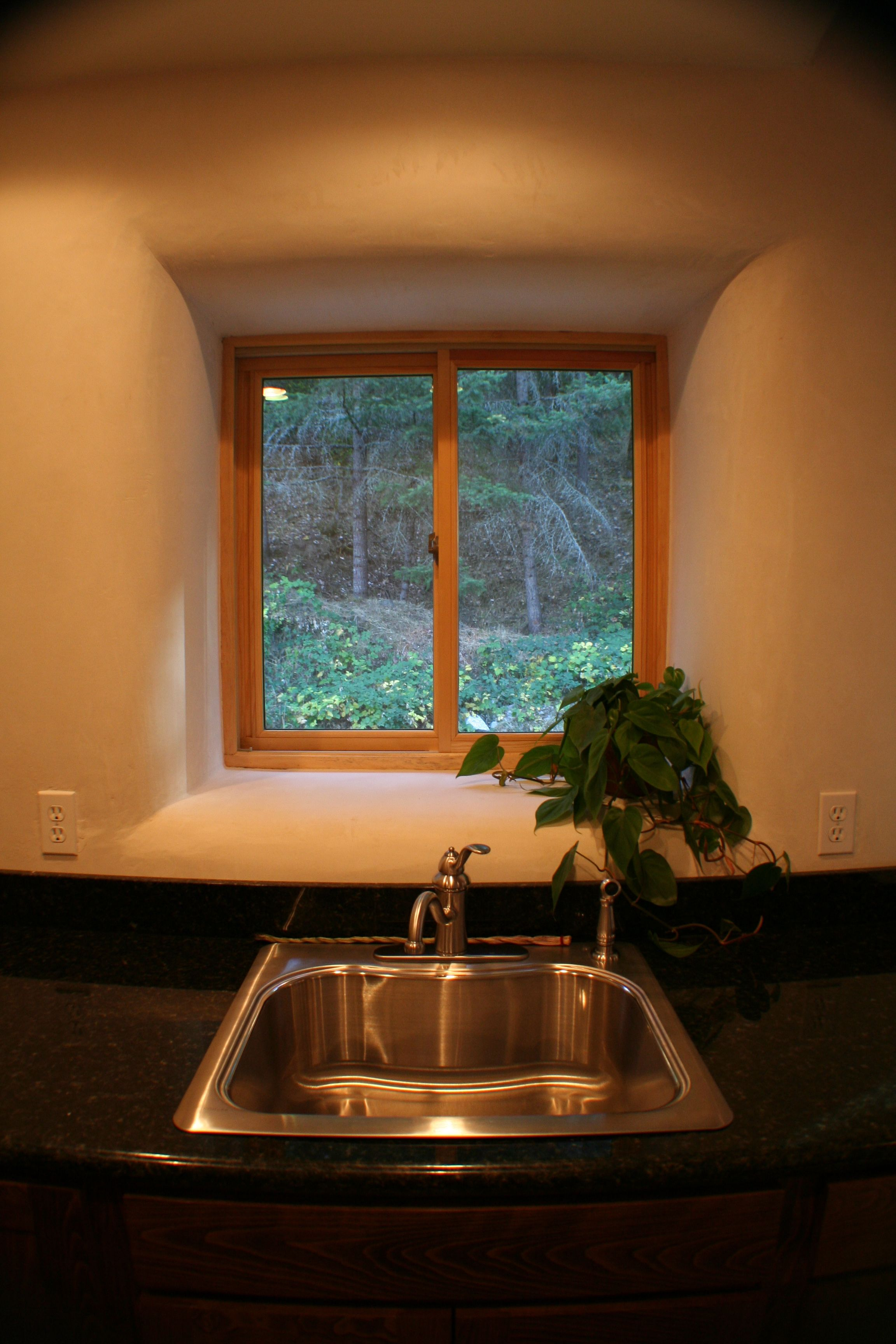 plubing in straw bale homes addresses kitchen sink tub against