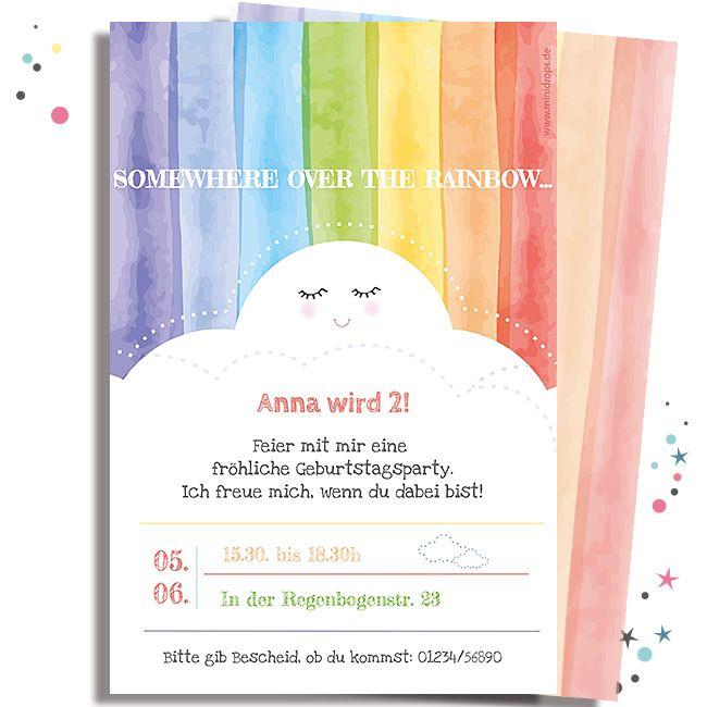 Photo of Invitation card RAINBOW