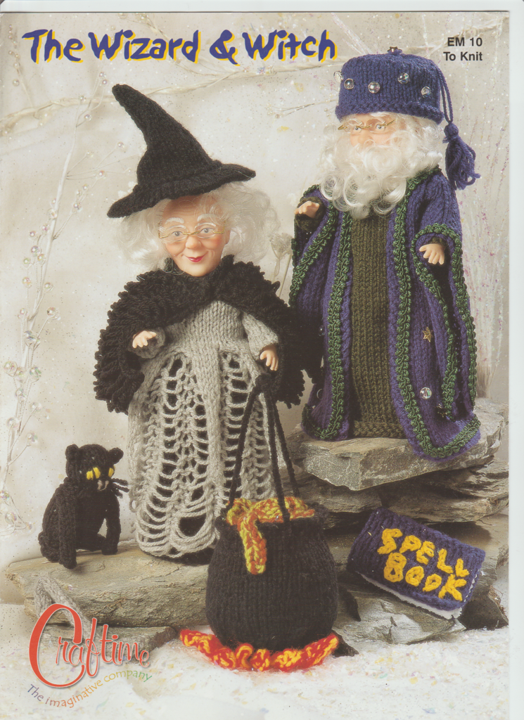 Knitting Pattern Leaflet Craftime EM10 The Wizard & Witch