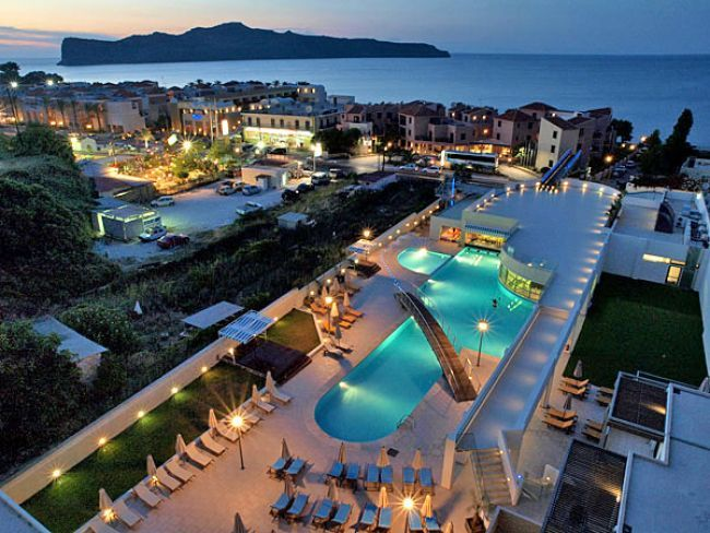 Iolida Beach Hotel In Agia Marina Chania Crete Built Front Of The Sandy This Offers Excellent Facilities And A Vast Range