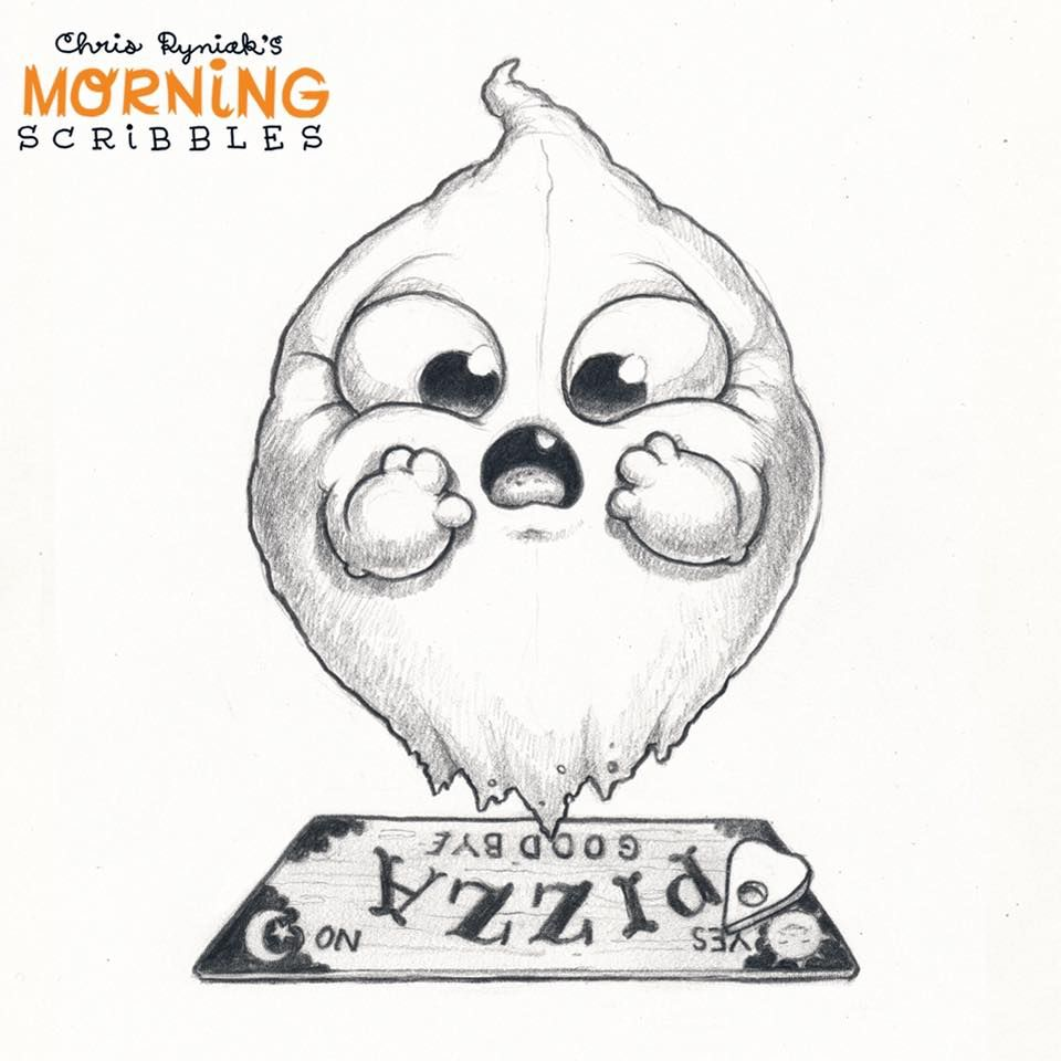 Scribble Monster Drawing : Chris ryniak morning scribbles