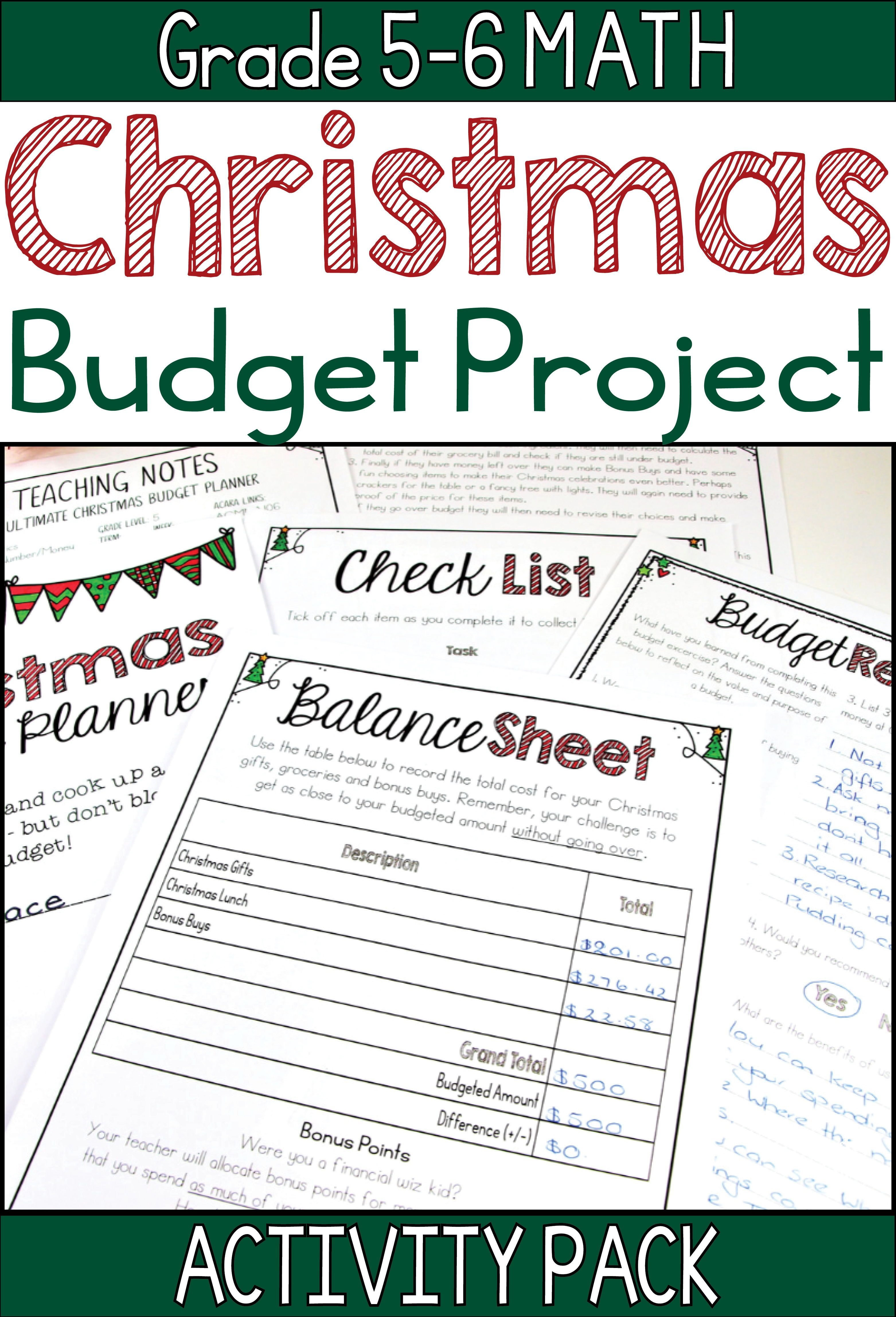 Christmas Budget Project
