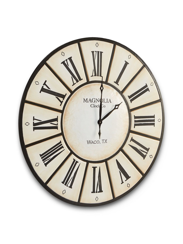 Iron Wall Clock Magnolia Homes Magnolia Home Decor Clock