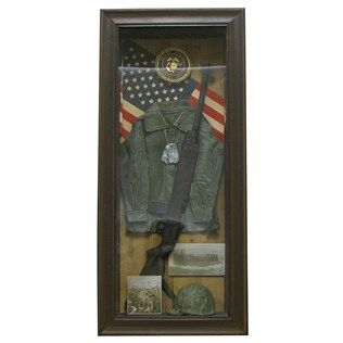 This Marine Shadow Box Would Look Great In A Home Library Game
