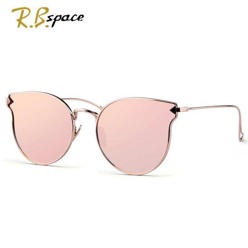 7fff96c219 Moda gafas de Sol Mujeres Del Ojo de Gato gafas de Sol Famoso Diseñador de  la Marca Señora de Doble Vigas Gafas gafas de Sol de Espejo de Recubrimiento