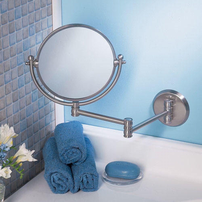 Round Swinging Vanity Mirror - $120.95 | Banheiro