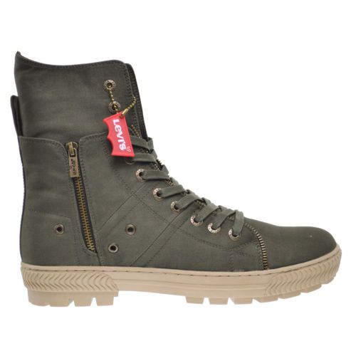 Official Website Levi's Men's Sahara Ct Twill Boot - Army