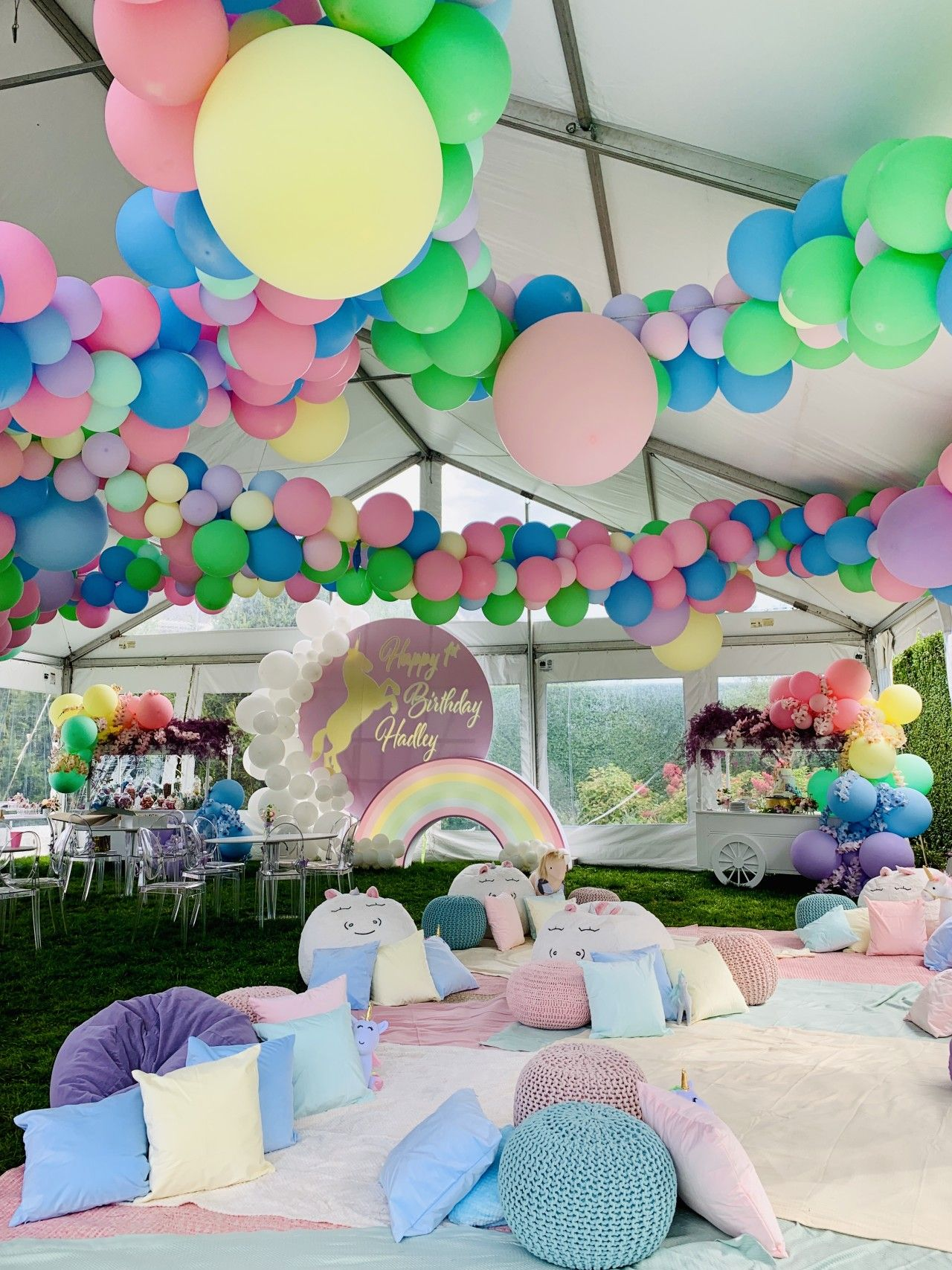 Flashbackfriday Here S A Sneak Peak Of The Magical First Birthday Party We Brought To Life Last Weekend A Unicorn Party First Birthday Parties Party Themes