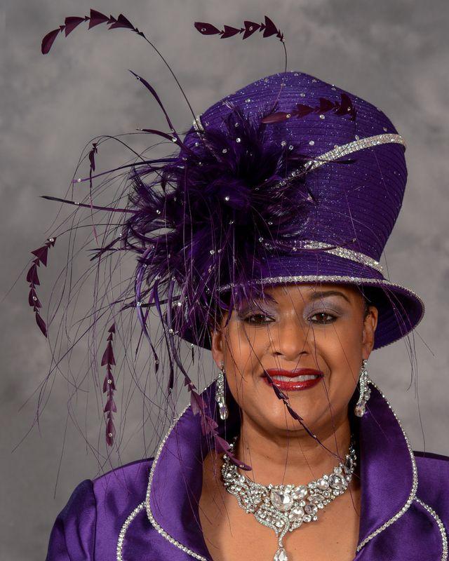a5d92e7e0 Stunning Purple Church Hat by Eve Andrea | Women Fashions | Church ...