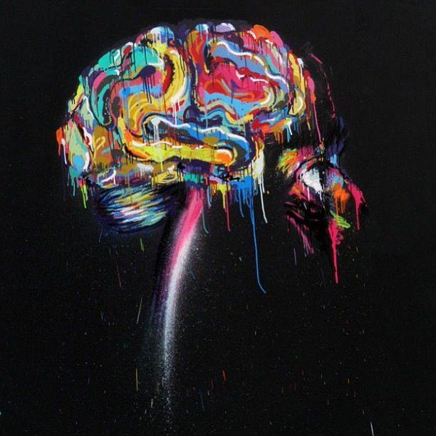 colourful brain art pinterest brain and street art