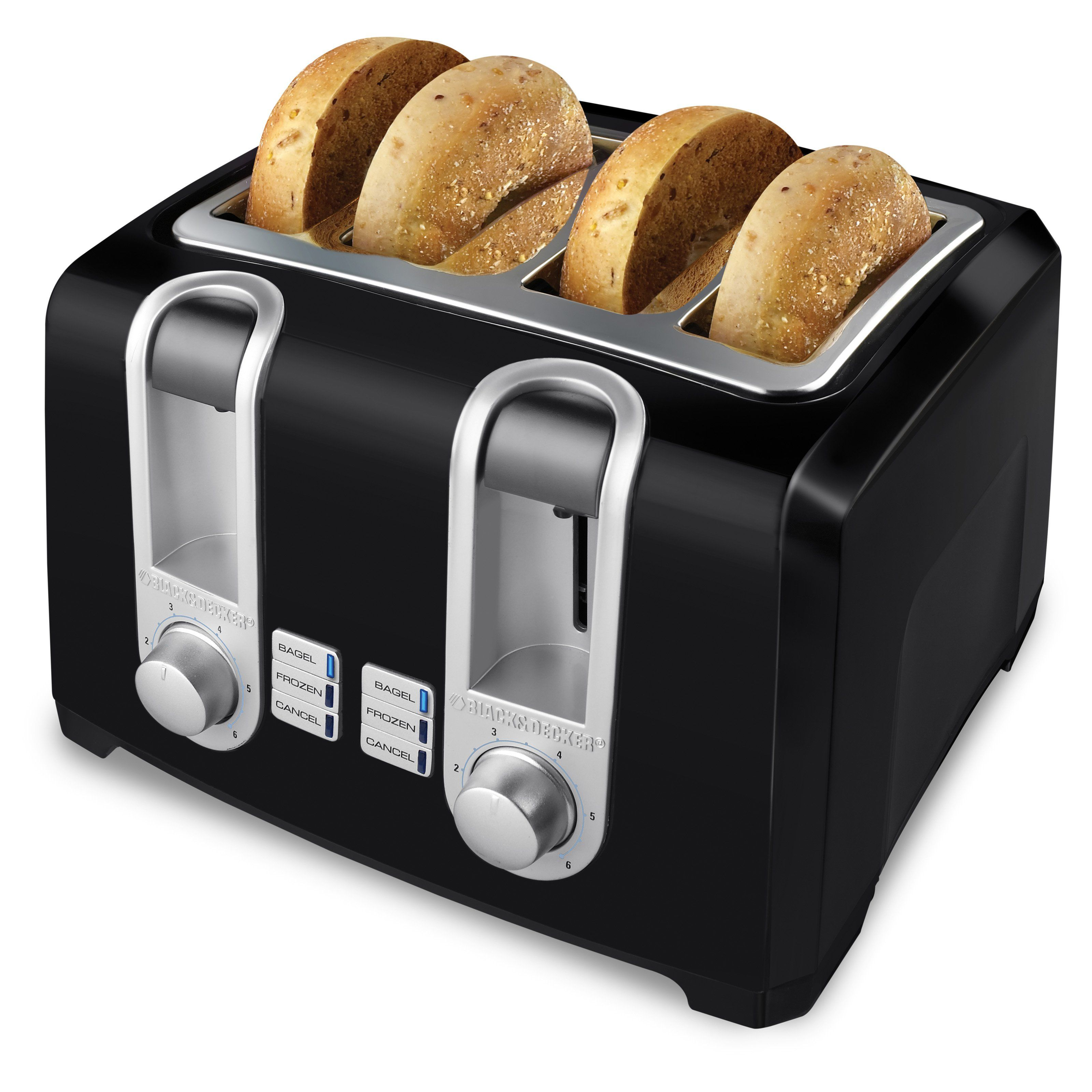 Black Decker T4569b 4 Slice Toaster Black 050875803473 Black Toaster Four Slice Toaster Toaster
