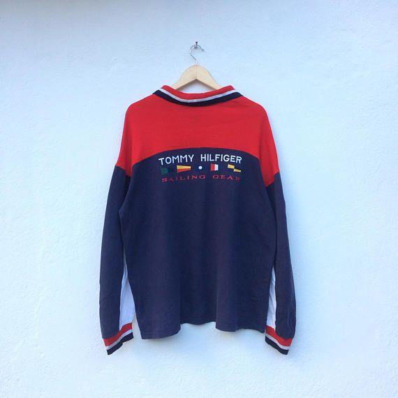 9415bd97 Vintage TOMMY HILFIGER Sailing Gear Longsleeves T-shirt   Tommy ...