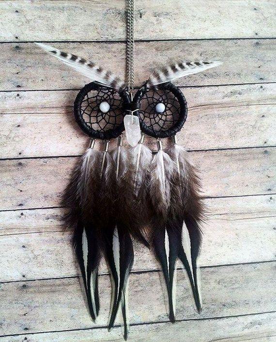 Owl Dream Catcher Necklace / Dreamcatcher / by FlozotikCreations