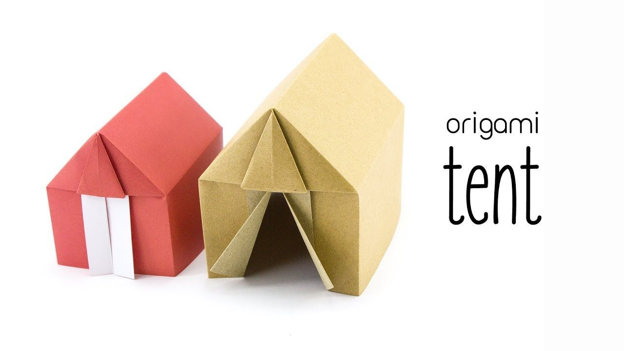 Brief Falten Youtube Origami Tent Or House Tutorial Paper Kawaii Youtube Origami