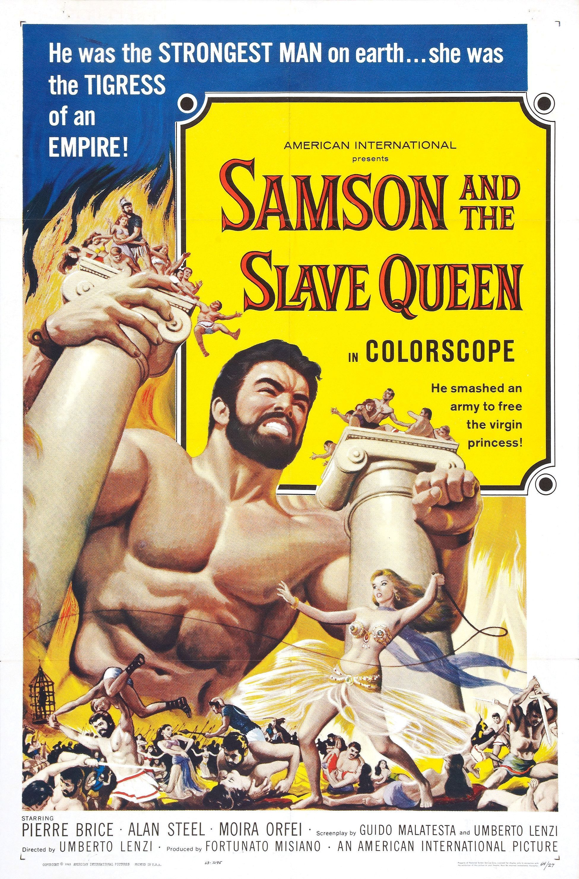 samson_and_slave_queen_poster_01.jpg (1951×2959) | ☼The Sword & Sandal Film  Era☼ | Pinterest | Queens, Movie and Fantasy movies