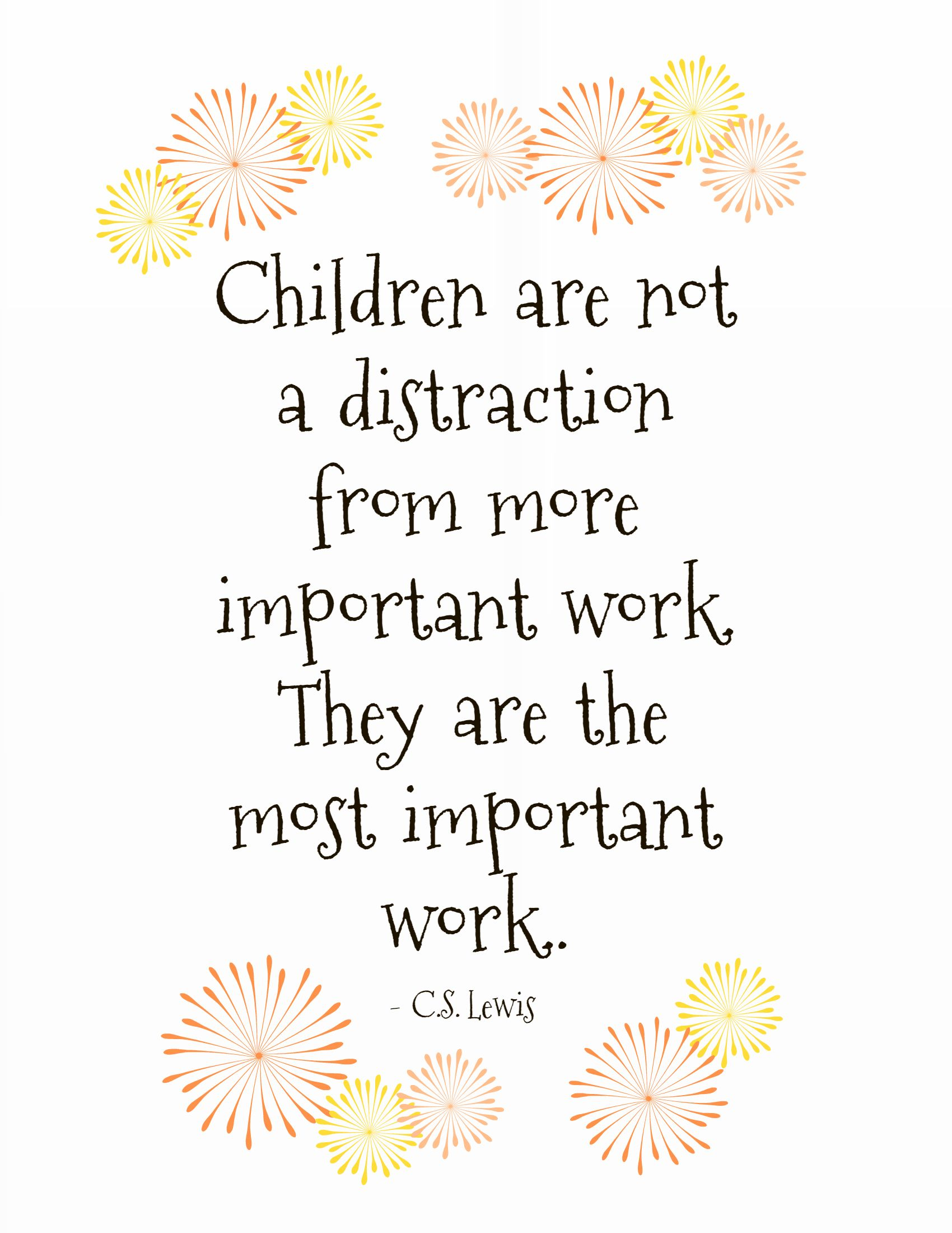 Cs lewis quote quote of the day children are not a