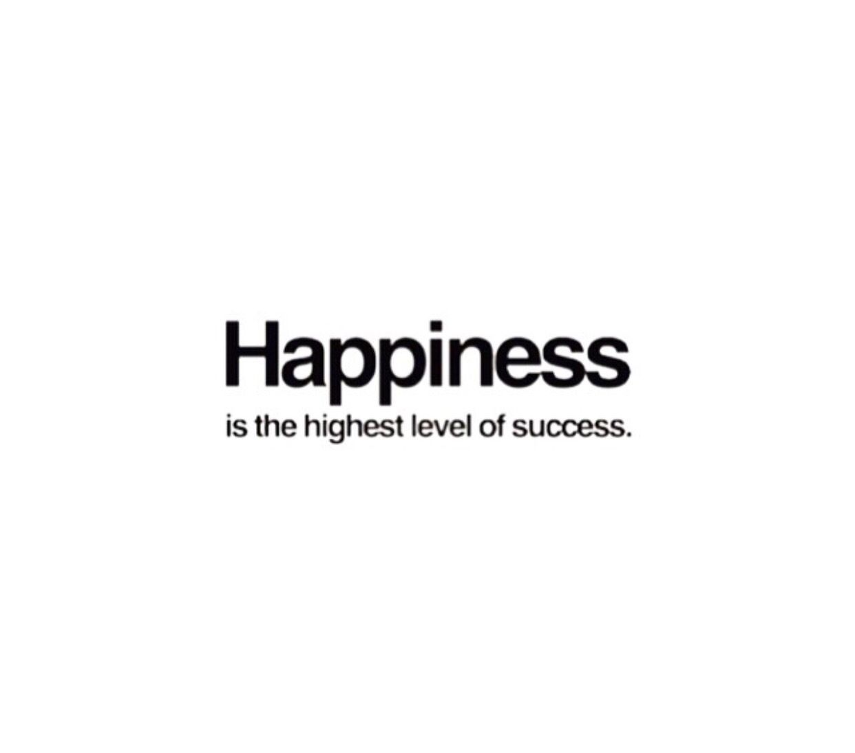 Happiness Is The Highest Level Of Success Quote.