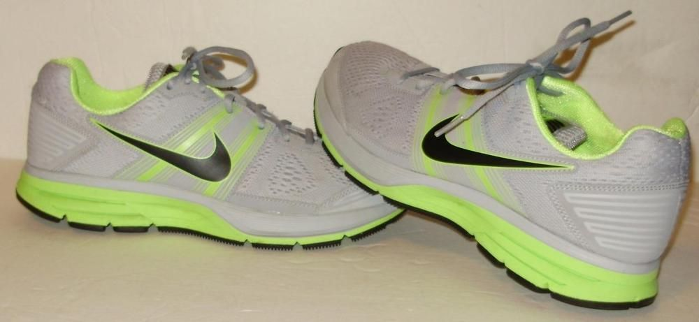 Mens NIKE sneakers-Pegasas 29-Size 9.5-Gray & neon green-GREAT SHAPE #Nike #AthleticSneakers