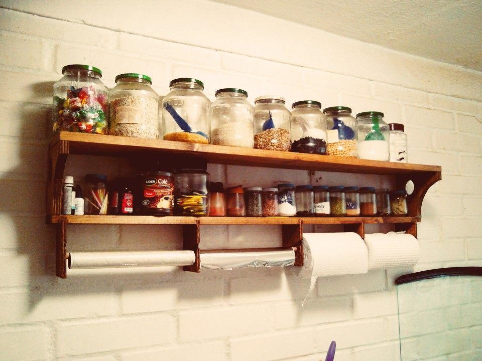 Repisa de madera para la cocina cocinas pinterest for Cocinas bonitas