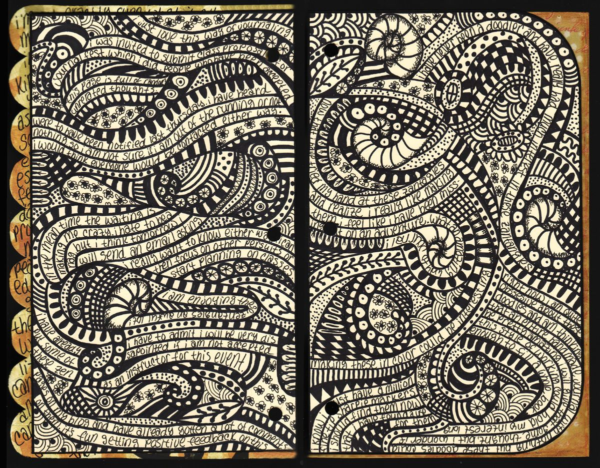 "Ilustraciones Mi Libreta De Dibujo: Ingrid Dijkers: ""Zentangle Untangled"" -- Amazing Journal"