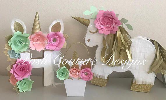 Set de regalo Piñata de unicornio / centro unicornio / Unicorn