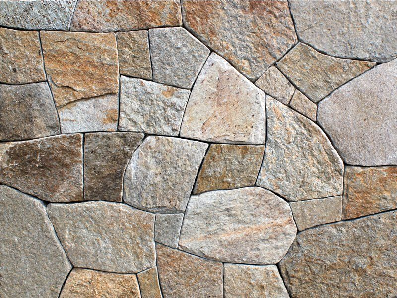 Colonial Tan Mosaic Natural Stone Veneer Beautiful Colors Including Beige Light Gray And Tan