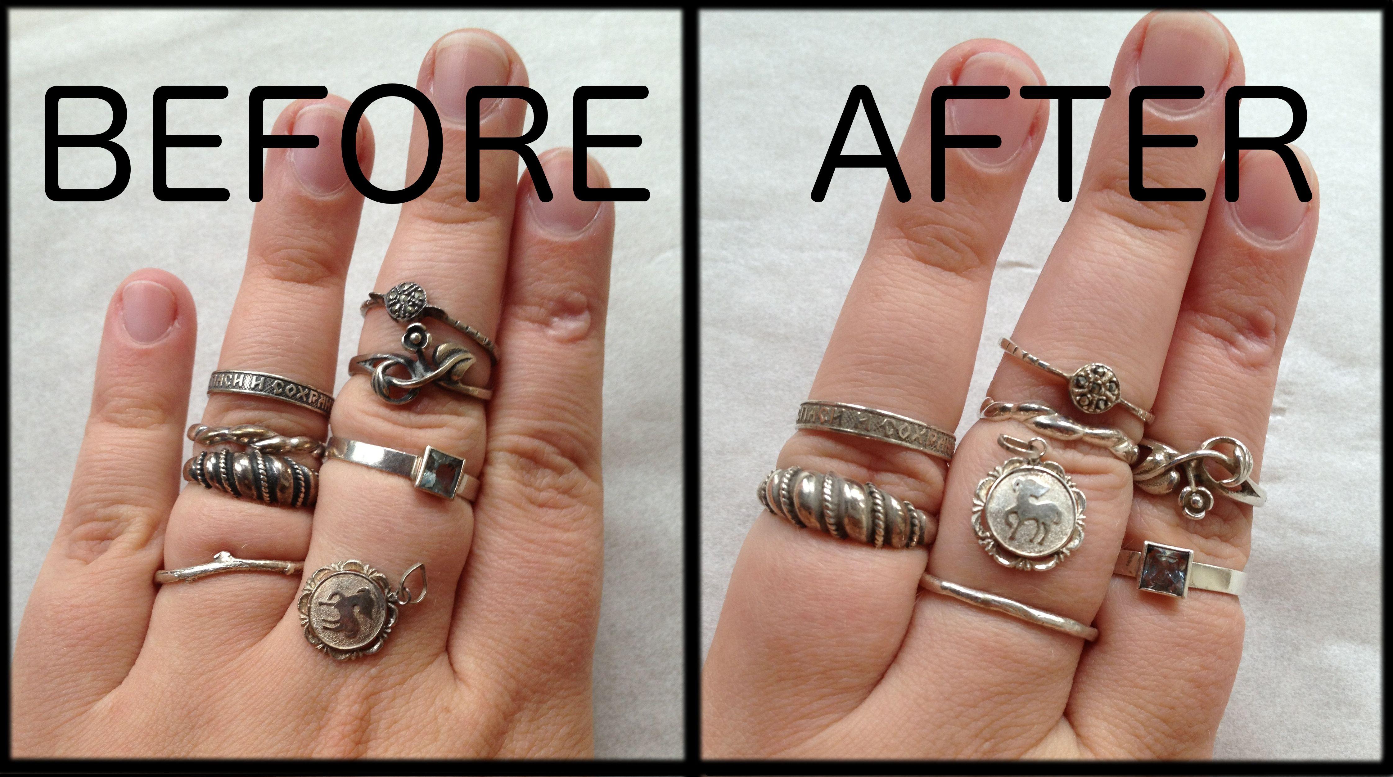 Reversing Tarnishing On Silver Jewelry Attempt 1 Cleaning Silver Jewelry Clean Tarnished Silver Jewelry Sterling Silver Jewelry Cleaner