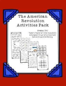 American Revolution ReaderS Theater And Activity Bundle  Formal