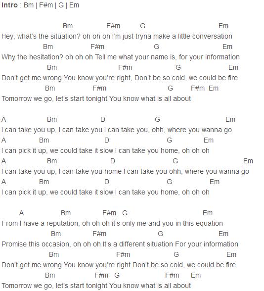 Justin Bieber - Take You (Acoustic) Chords Capo 4 | Justin Bieber ...