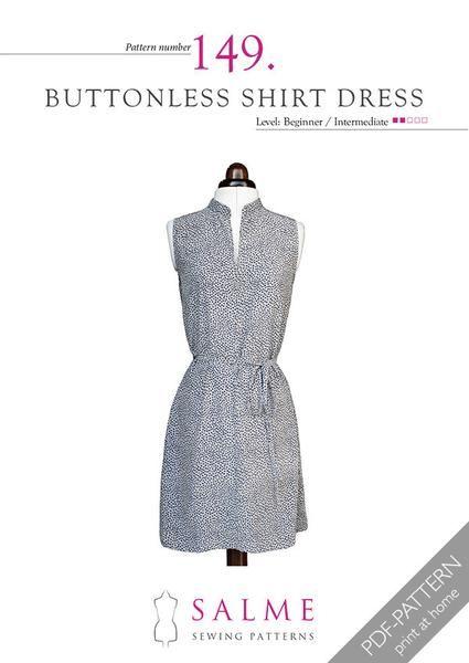 Pattern no 149 Buttonless shirt dress | Sewing Tutorials & Patterns ...