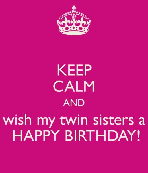 Twin Birthday Saying Twin Sisters Birthday Card Exandle Sister