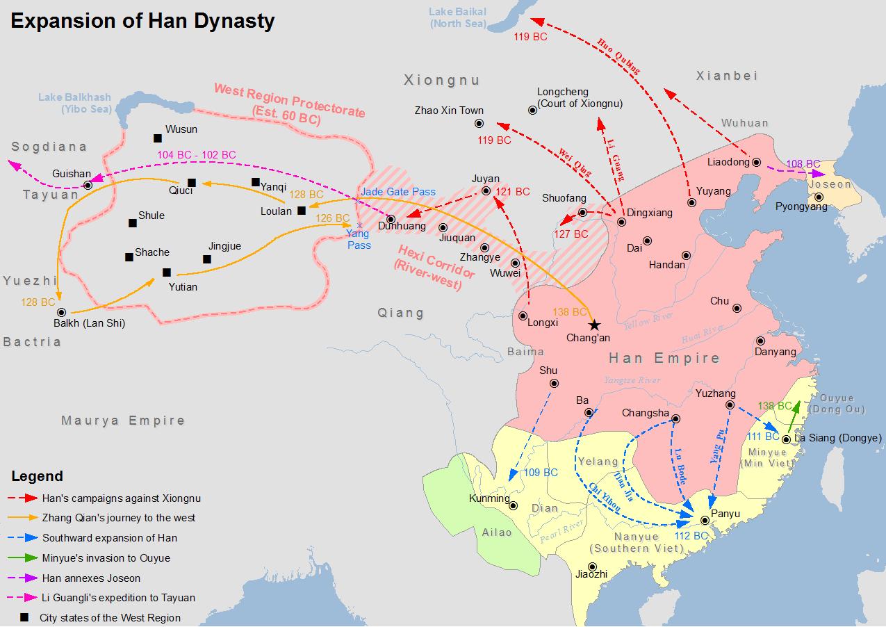 From Wikiwand Chiu1ebfn Tranh Hu00e1n Nam Viu1ec7t China Map The Han Dynasty The Expanse