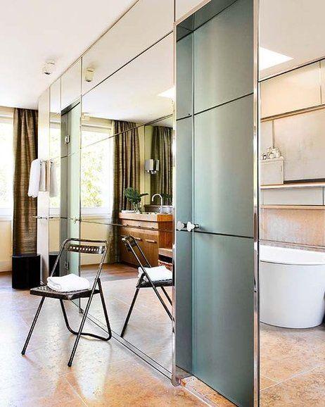 Una casa con mucha luz | Grandes espejos, Cuarto de baño y Espejo
