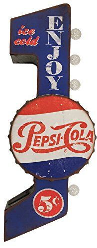 Pepsi Cola Sign Officially Licensed Illuminated By Battery Powered