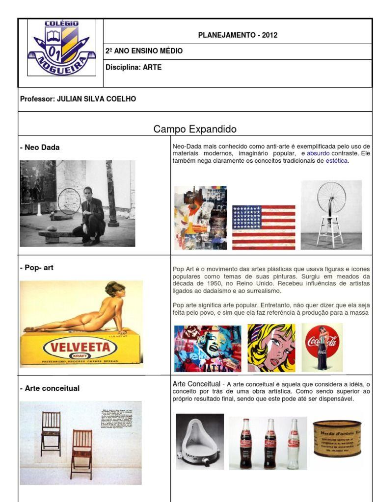 Professor Julian Silva Coelho Com Imagens Plano De Aula Artes
