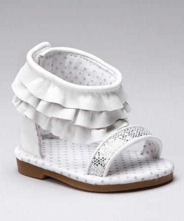 df273e40c45 Infant · Take a look at this White Myra Gladiator Sandal by Designer s  Touch on ...