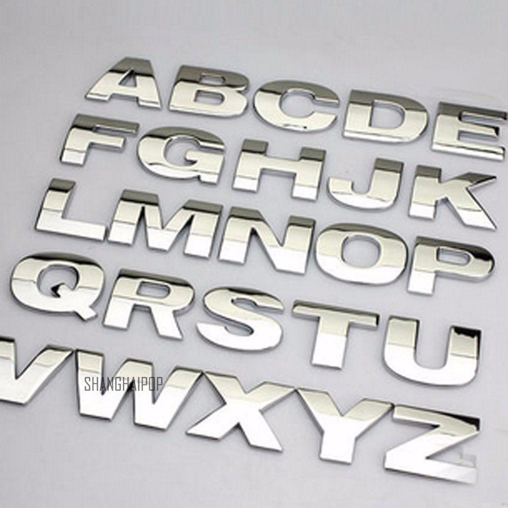 A-Z Alphabet Letter Car Auto Personalized Sticker Self Adhesive Badge Emblem 3D