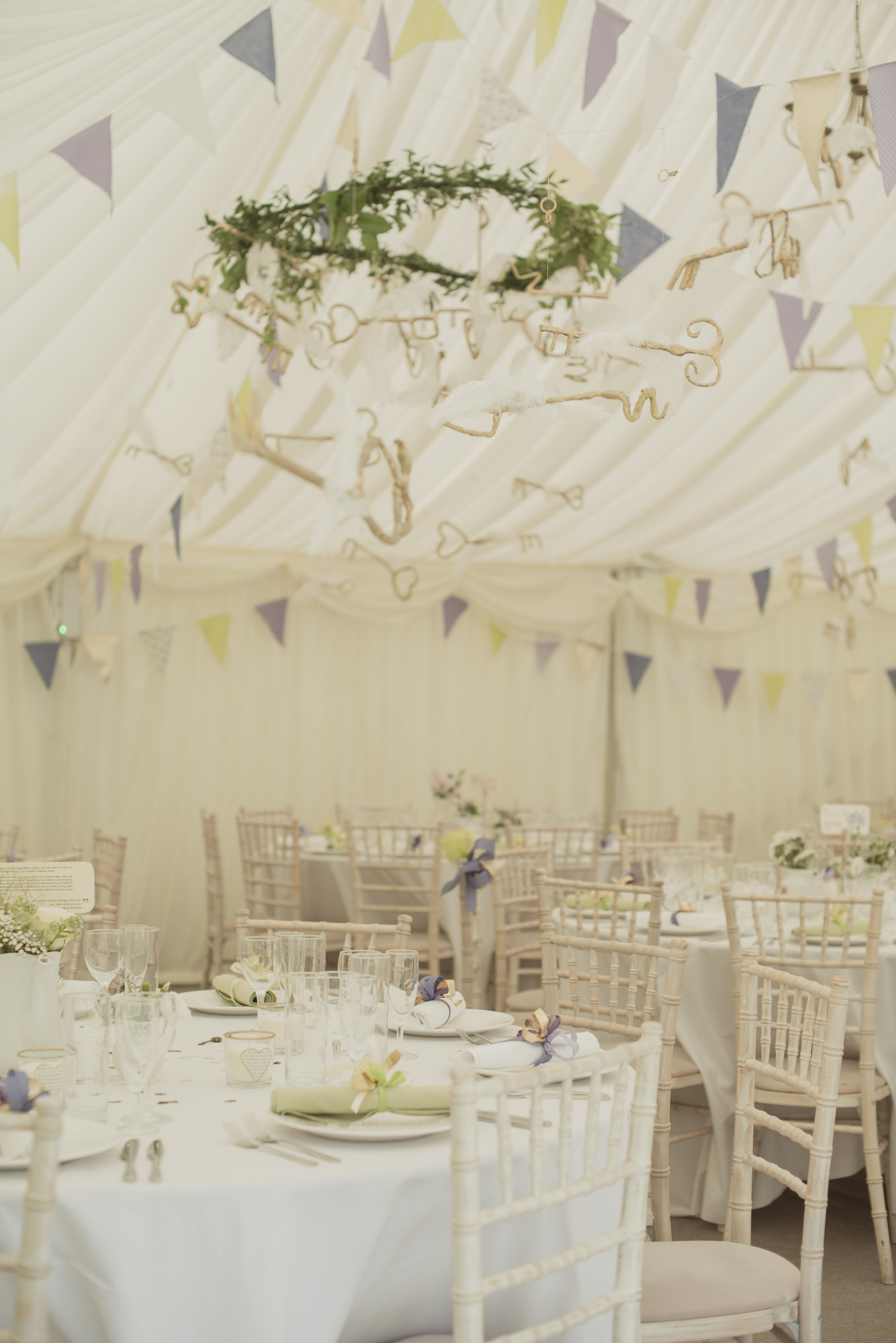 Flying keys in marquee. Magical decoration, Harry Potter wedding at ...